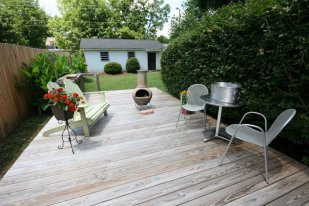 Beautiful back yard with lots of privacy and plenty of room for entertaining